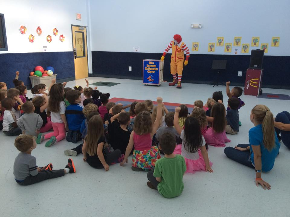 Ronald McDonald Came for a Visit!