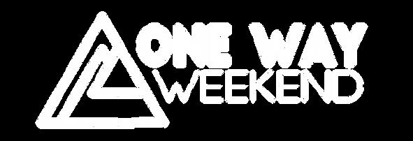 WHITE One Way WEEKEND Logo Final_white.p