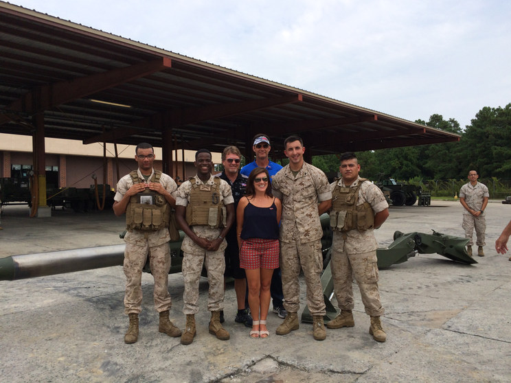 Mike & Angie Skinner visit Marine Corps Base Camp Lejeune with Hope For The Warriors