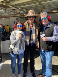 """Angie & Mike Skinner interview """"The King"""" Richard Petty (center)"""