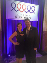 Angie Skinner emceeing the Got Heart Give Hope Gala for Hope For The Warriors.