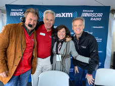 Mike Skinner, Darrell Waltrip, Angie Skinner and Kenny Wallace for an interview on SiriusXM NASCAR Radio