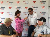 Angie & Mike Skinner interview NASCAR Hall of Famers, Jack Ingram (left) and Bobby Allison (right)