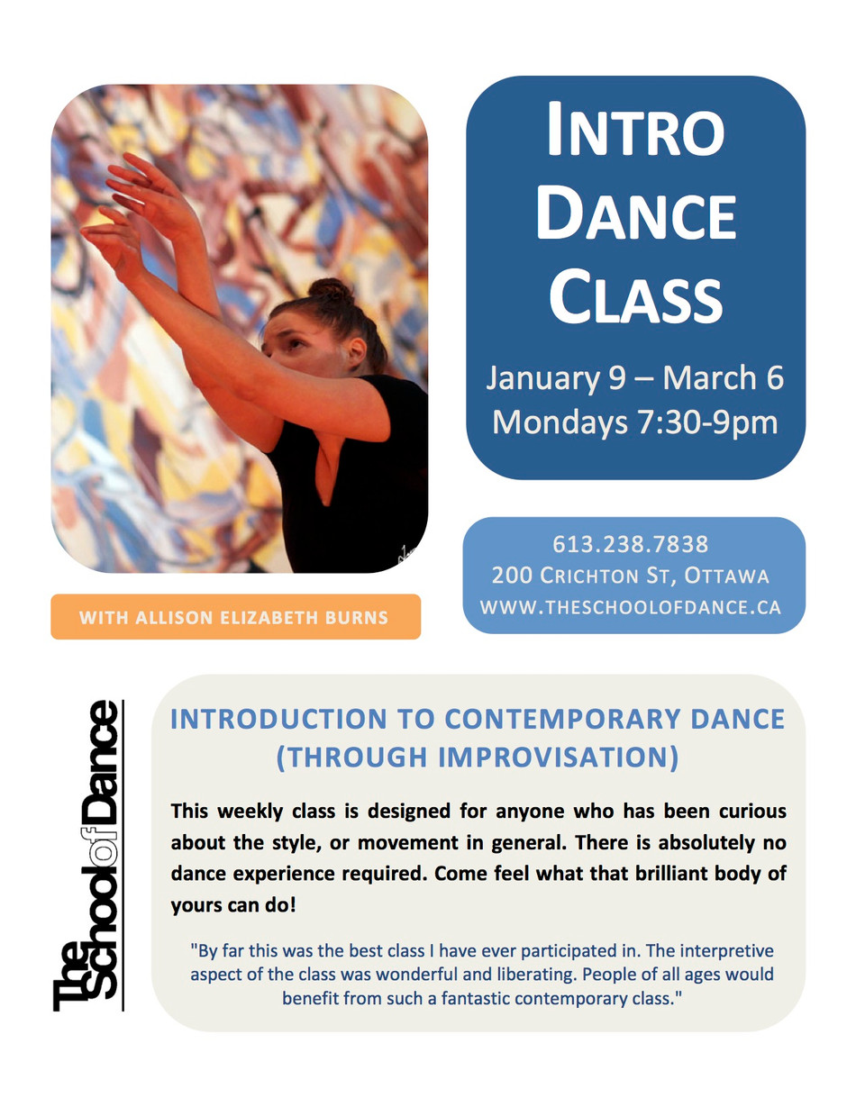 Adult intro dance classes starting with the new year!