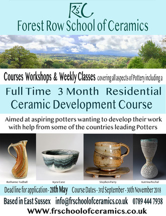 Application deadline for our Full Time, 3 Month, Residential, Ceramics Development Course is this Mo