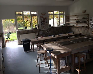 Full-time-course | UK | Forest Row School of Ceramics classroom interior.