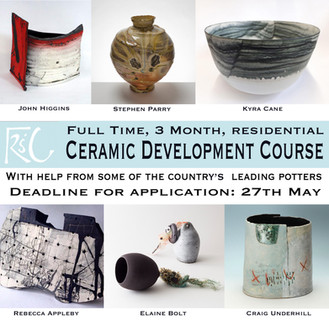 Applications for 2019's Full Time Ceramic Course are now open!!