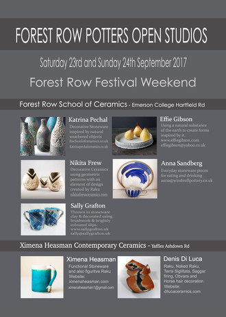 Forest Row Potters Open Studios