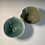 Thumbnail: 2 x cereal bowls Turquoise and Green