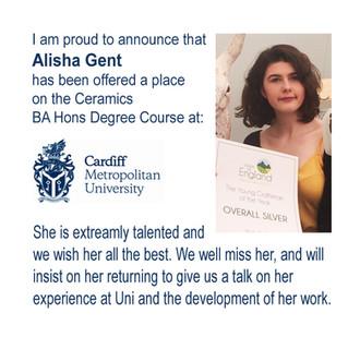 Alisha is off to Cardiff University!!!!!
