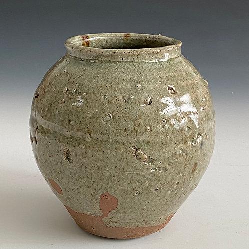 Green moon jar