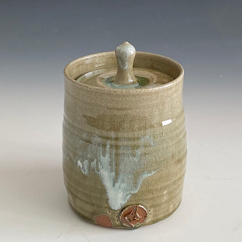 Green ash lidded container