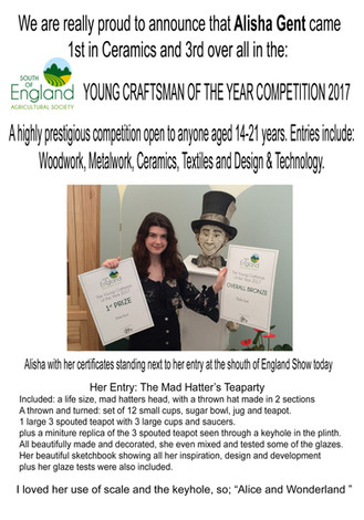 Student wins an award