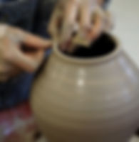 Throwing on the potters wheel Forest Row School of Ceramics