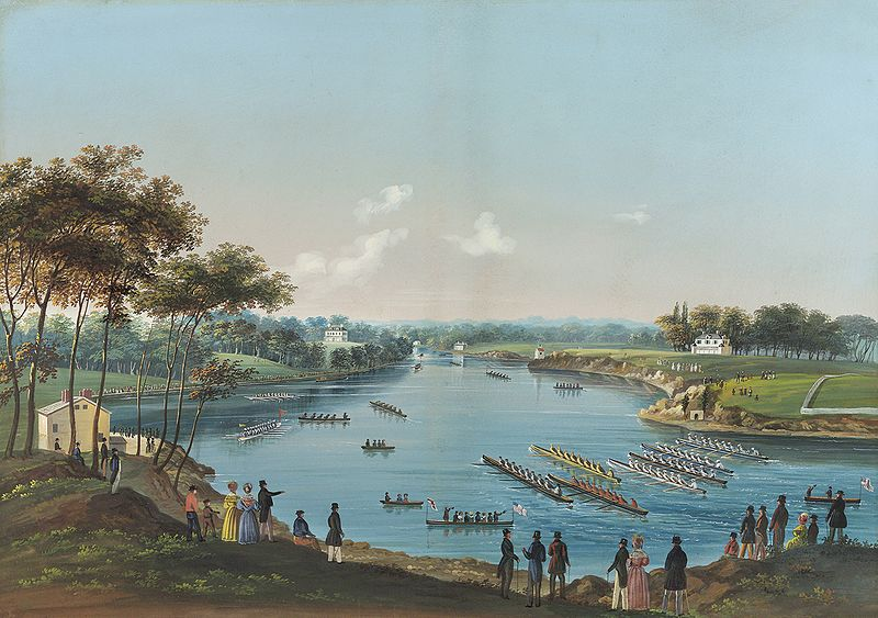 The_First_Schuylkill_Regatta_by_Nicolino_Vicompte_Calyo,_c_1835