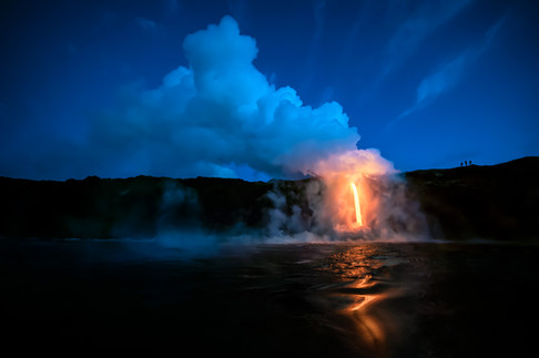 Ocean-entry-lava-flow-22,-Hawai'i-Volcan