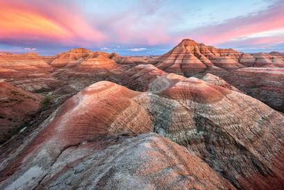 Sunset-10,-The-Maze,-Badlands-National-P