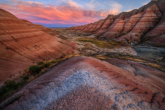 Sunset-10,-Badlands-National-Park,-South