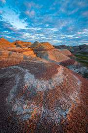 Erosion-patterns-at-sunset-1,-Big-Foot-P