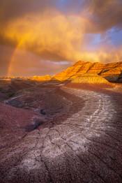 Sunset-storm-clouds-3,-the-Maze,-Badland