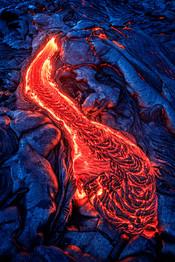 Surface-lava-flow-12,-Hawai'i-Island,-Ha