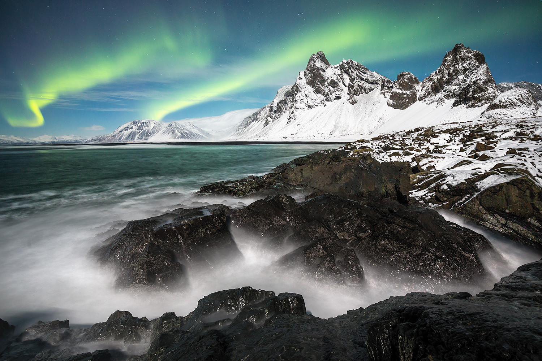 Aurora-borealis-4,-Eystrahorn,-Lónsfjörd