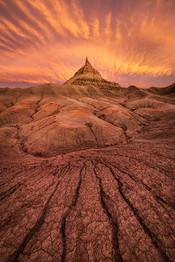 Factory-Butte-sunset-3,-Colorado-Plateau