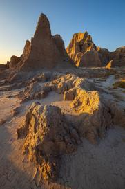 Sunset-light-1,-Cedar-Pass,-Badlands-Nat