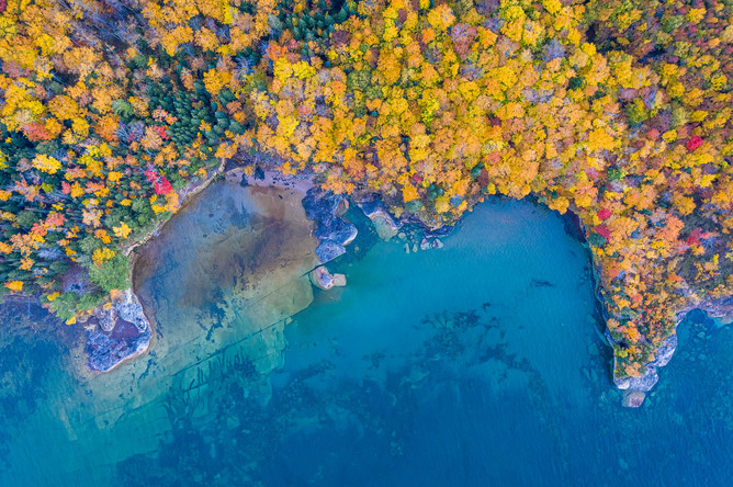 Aerial-view-of-autumn-color-1,-Paradise-