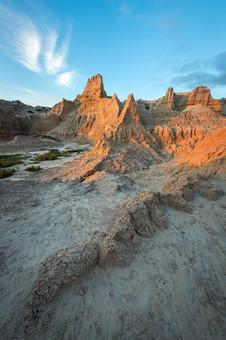 Sunset-clouds-4,-Cedar-Pass,-Badlands-Na