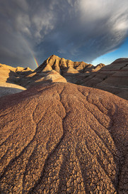 Rainbow-over-badlands-formations-2,-The-