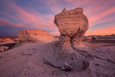 Pumice-stone-field-sunset,-Puna,-Argenti