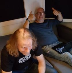 Studio drums eirik and Erling