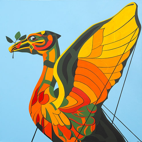 'The Liver Bird 2019' Limited Edition Print 27x27cm