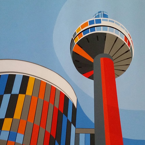 'St. John's Beacon, Liverpool' Limited Edition Print 27x27cm