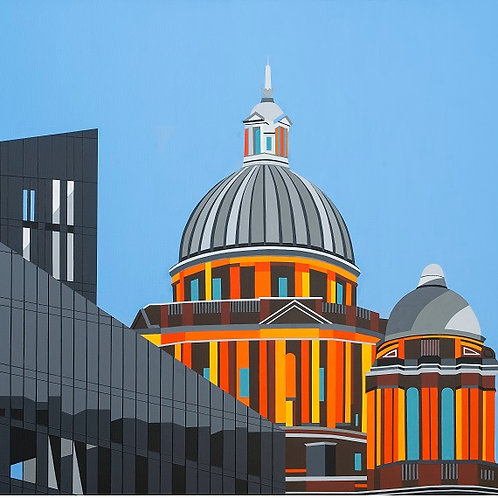 'Port of Liverpool Building' Limited Edition Print 37x37cm