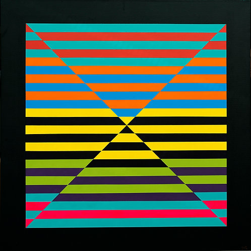'Space Line Colour Blocking' Limited Edition Print 27x27cm