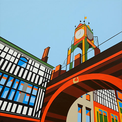 'Eastgate, Chester' Limited Edition Print 37x37cm
