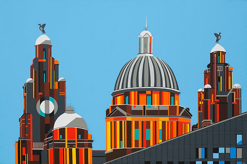 'Liverpool Pier Head 1' Limited Edition Print 54x36cm