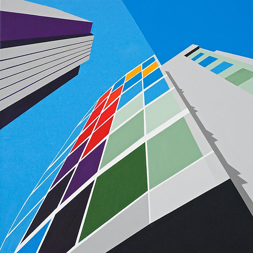 'West Tower, Liverpool' Limited Edition Print 37x37cm