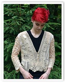 Free-form Upcycle Lace jacket