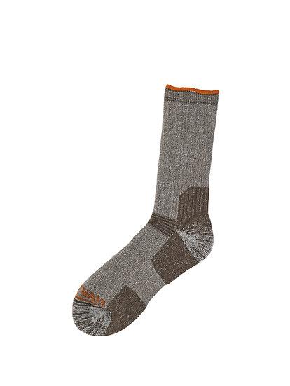 900102002 Ultra calf sock 1048 Dark brown mélange