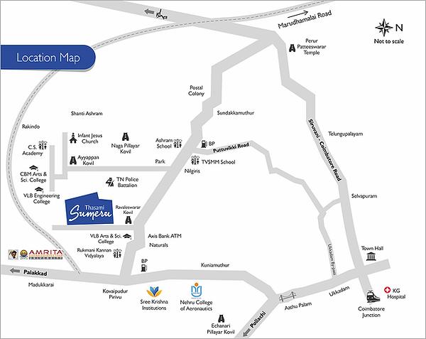 Terraspace Sumeru Locaton Mp Kovaipudur, Coimbatore
