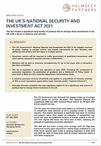 National Security & Investment Act Briefing