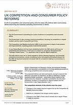 UK Political Risk Competition Law Reforms