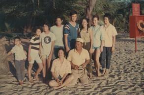 Morita family photo at Hulopoe beach