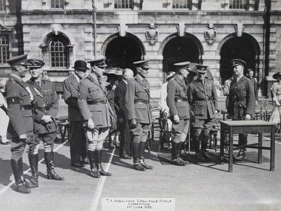 TA Ambulance Challenge Shield Competition, 3rd June 1933 Inspecting Officers