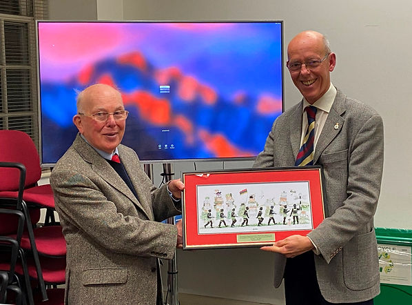 Presentation of print to Frank Davis by
