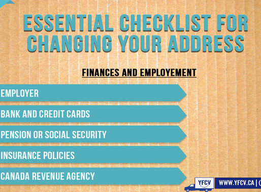 Essential Checklist for Changing Your Address. Part 2