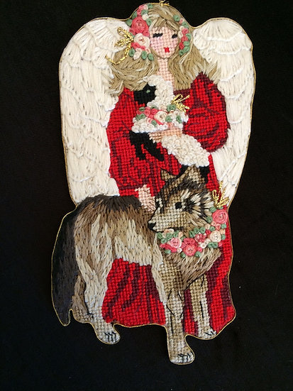 Peaceable Kingdom - Angel with Wolf - B341